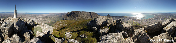 View from Devil's Peak looking south to Cape Point