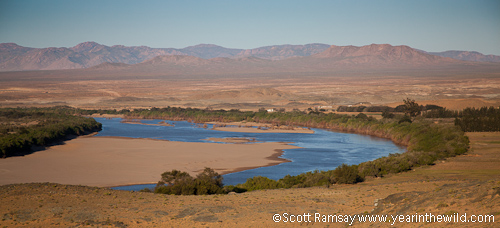 The first view of the Orange River