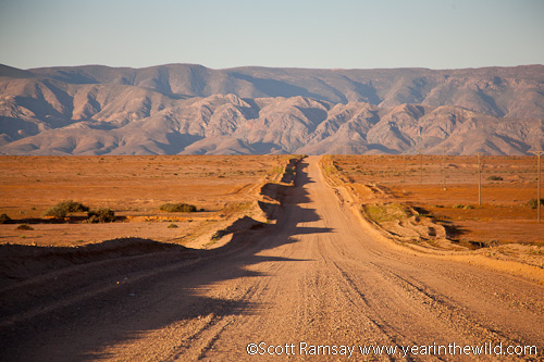 The road into the Richtersveld mountains