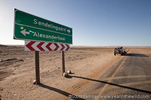 The road to Richtersveld National Park