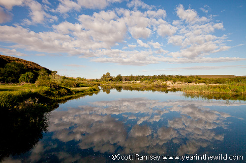 The swimming area at the rest camp on the Breede River