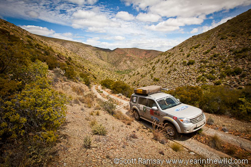 Driving up Lawsons Pass