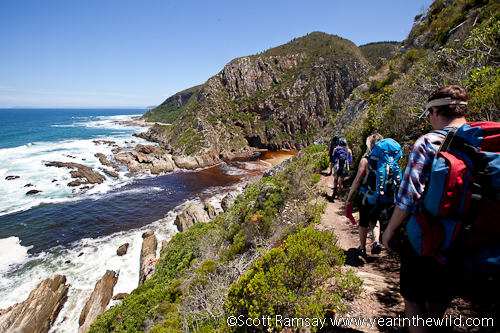 Heading down to the infamous Bloukrans river crossing