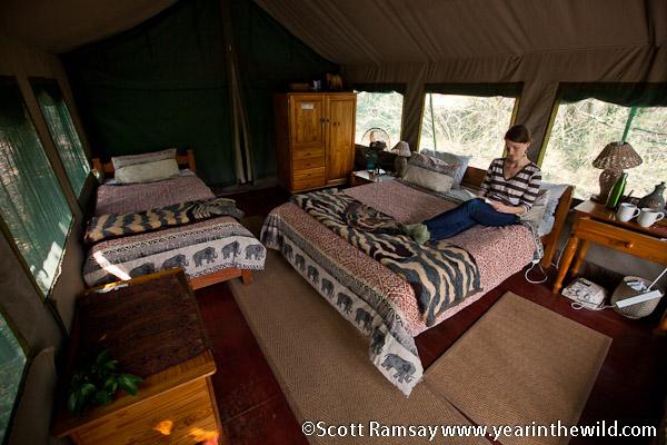 Tents at Tembe