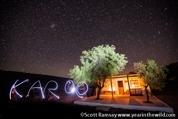 My cottage, the stars, and an attempt at painting with light...