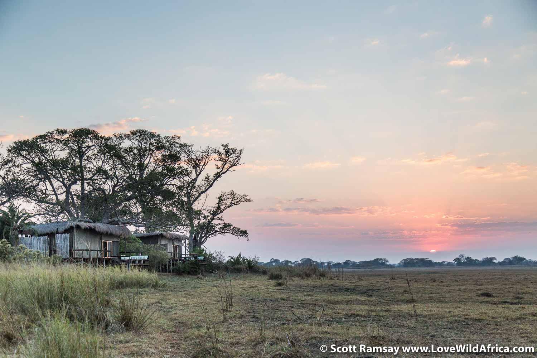 Shumba Camp at sunrise