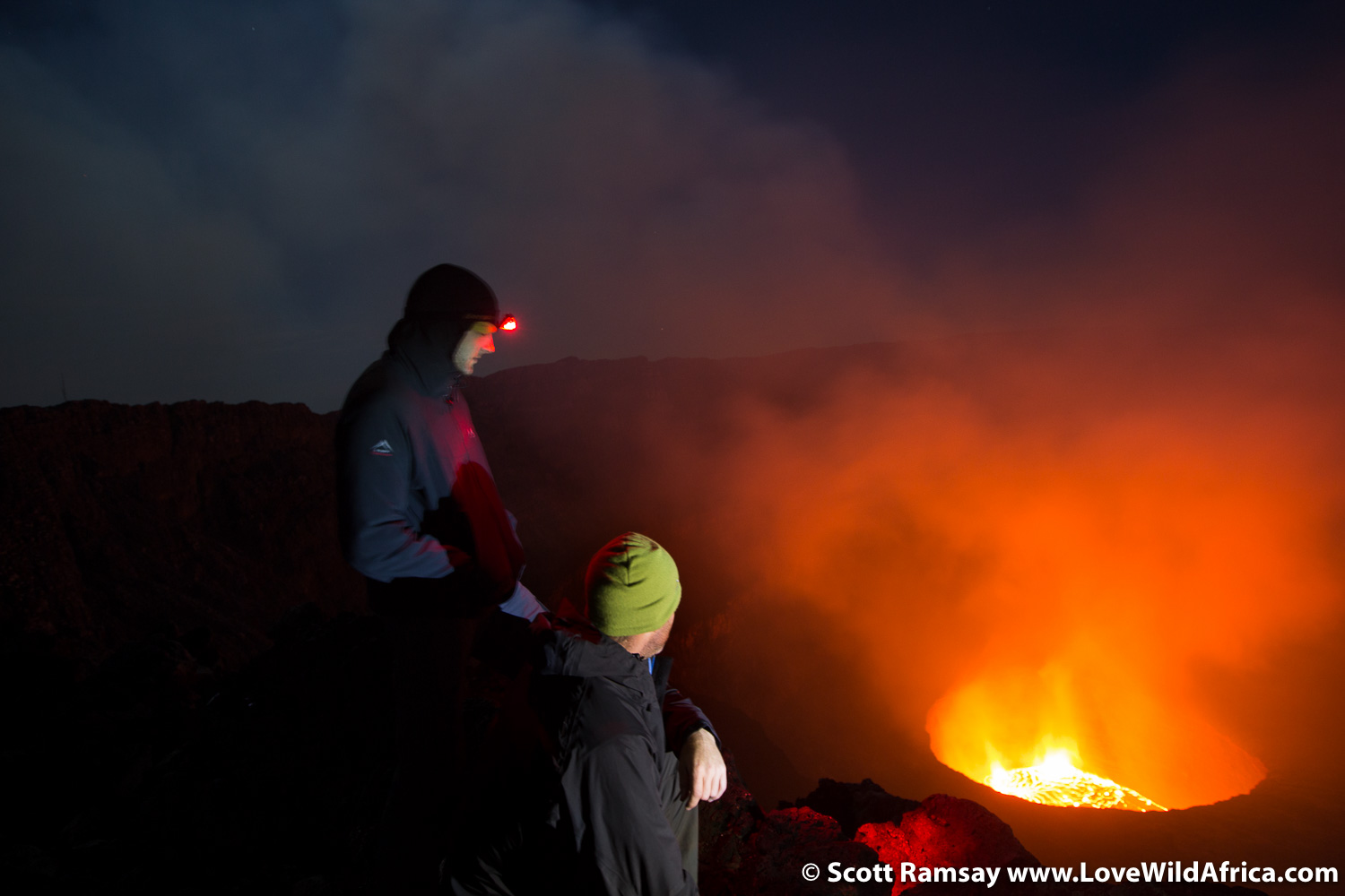 Mount Nyiragongo in Virunga - copyright Scott Ramsay www.LoveWildAfrica.com
