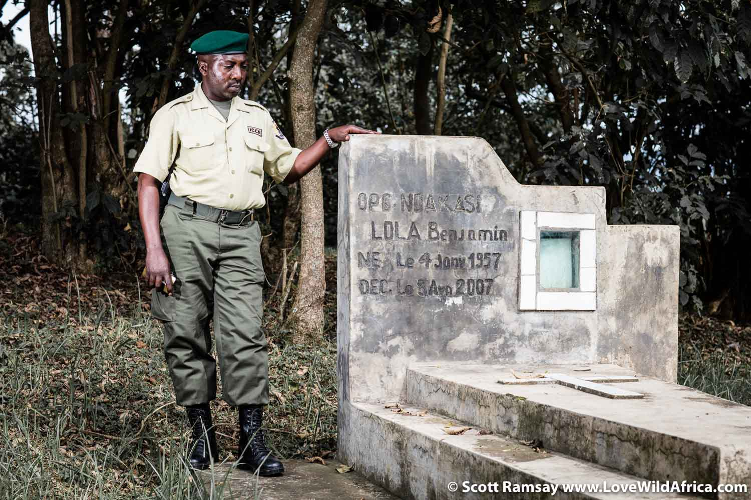 Mburanumwe showed me the grave of Ranger Benjamin Ndakasi Lola, who was the chief gorilla monitor in Virunga for eight years, from 1999 to his death from diabetes in 2007. There is a noticeably proud tradition of conservation in eastern DRC, and Virunga's rangers are clearly loyal to each other, and the park and it's local people. I felt privileged to spend a bit of time with Mburanumwe.