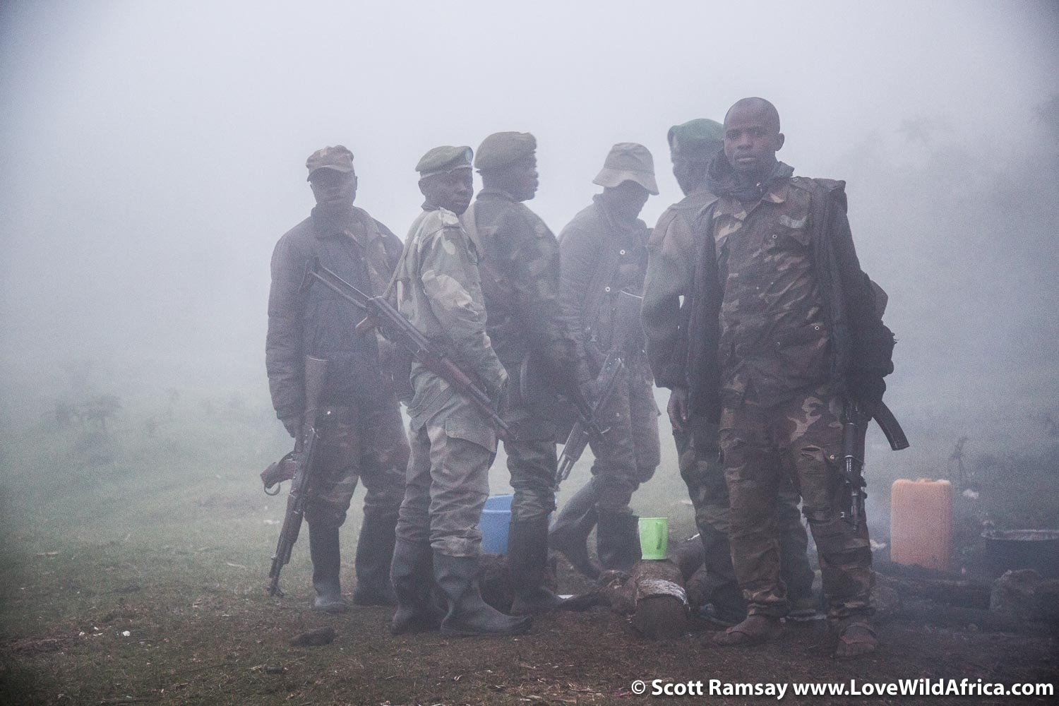 Congolese army soldiers, based near Bukima Ranger post.