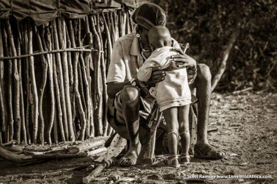 Samburu father and son - Samburuland - Kenya