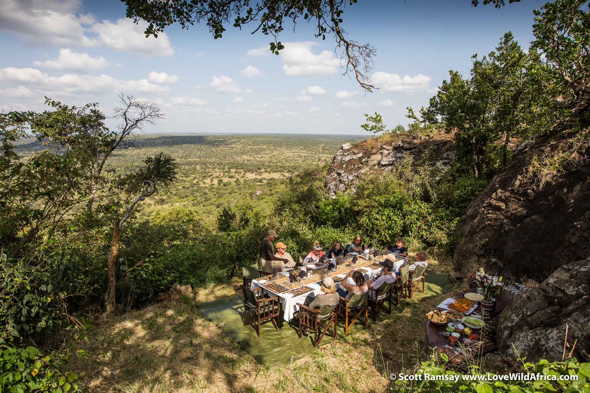 Breakfast at the tented camp on Suyian ranch in Laikipia