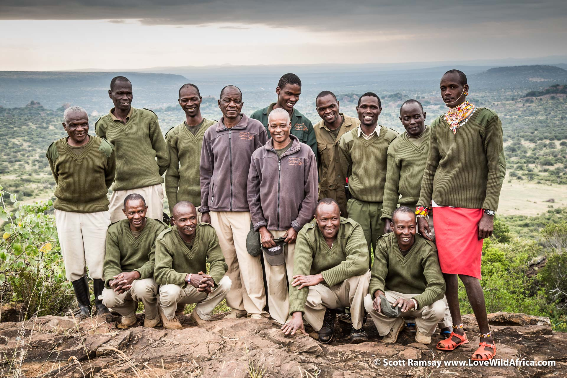 The team that makes it happen at Mike and Tanya's tented camp in Suyian