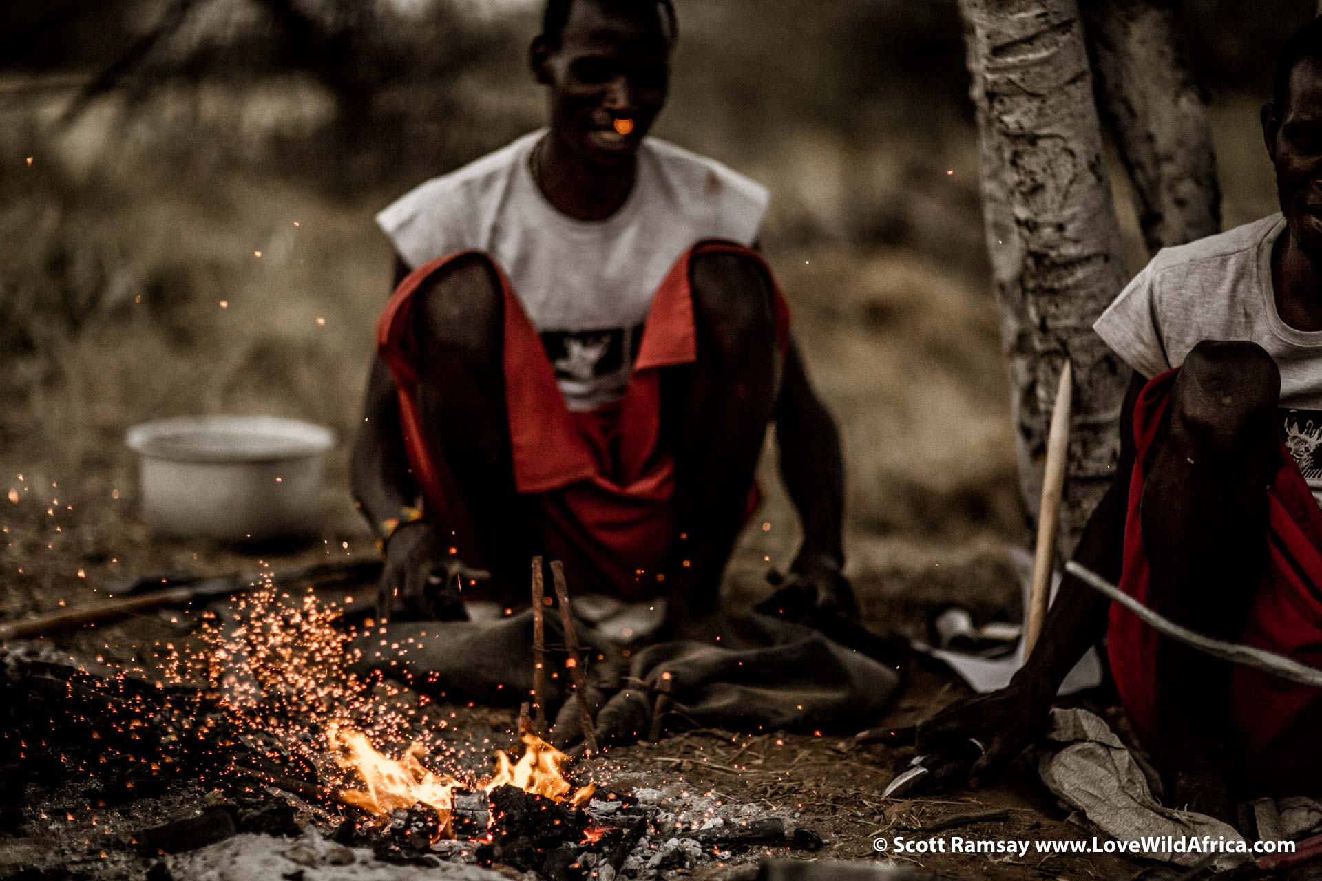 Mikey had found two Samburu blacksmiths, some of the last traditional blacksmiths in the region. And they are expert spear makers.