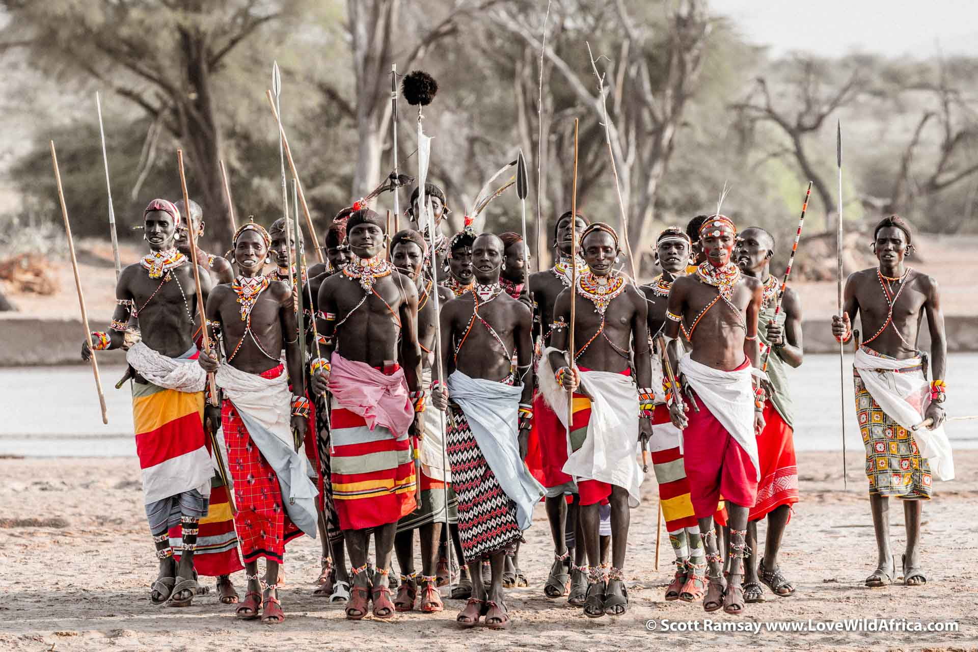 "One of the impressive opportunities for guests at Sasaab is to witness a Samburu moran dance, where the warriors dance and chant for the young women. Sometimes these sorts of ""cultural interactions"" between local people and tourists can seem cheesy and contrived, but the Samburu are mostly oblivious to anyone watching them, and the whole occasion feels authentic."