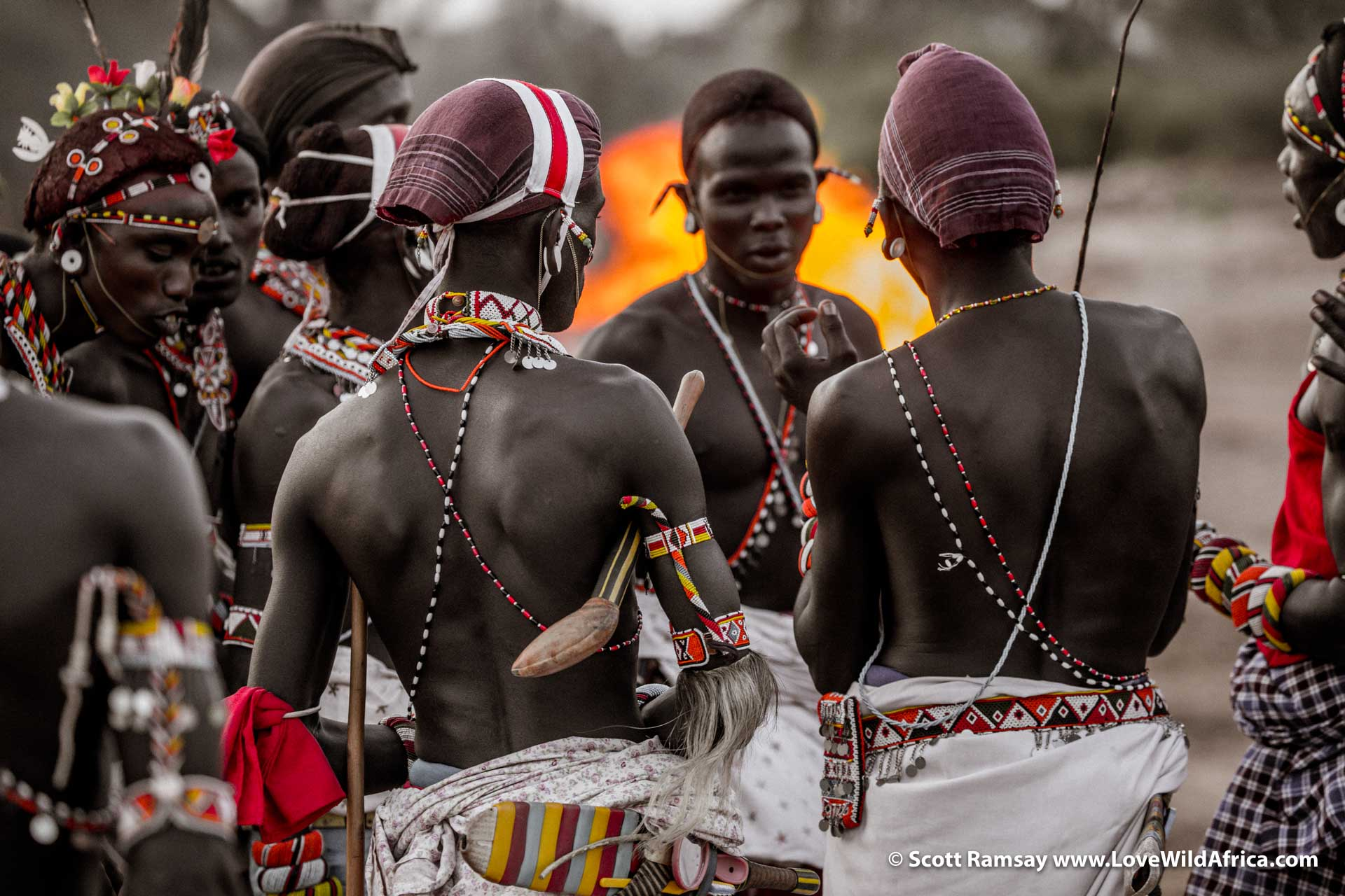 The Samburu are a documentary photographer's dream...the bright colours of their jewelry and cloths, contrasted with their smooth, coffee-coloured skin are endlessly photogenic.